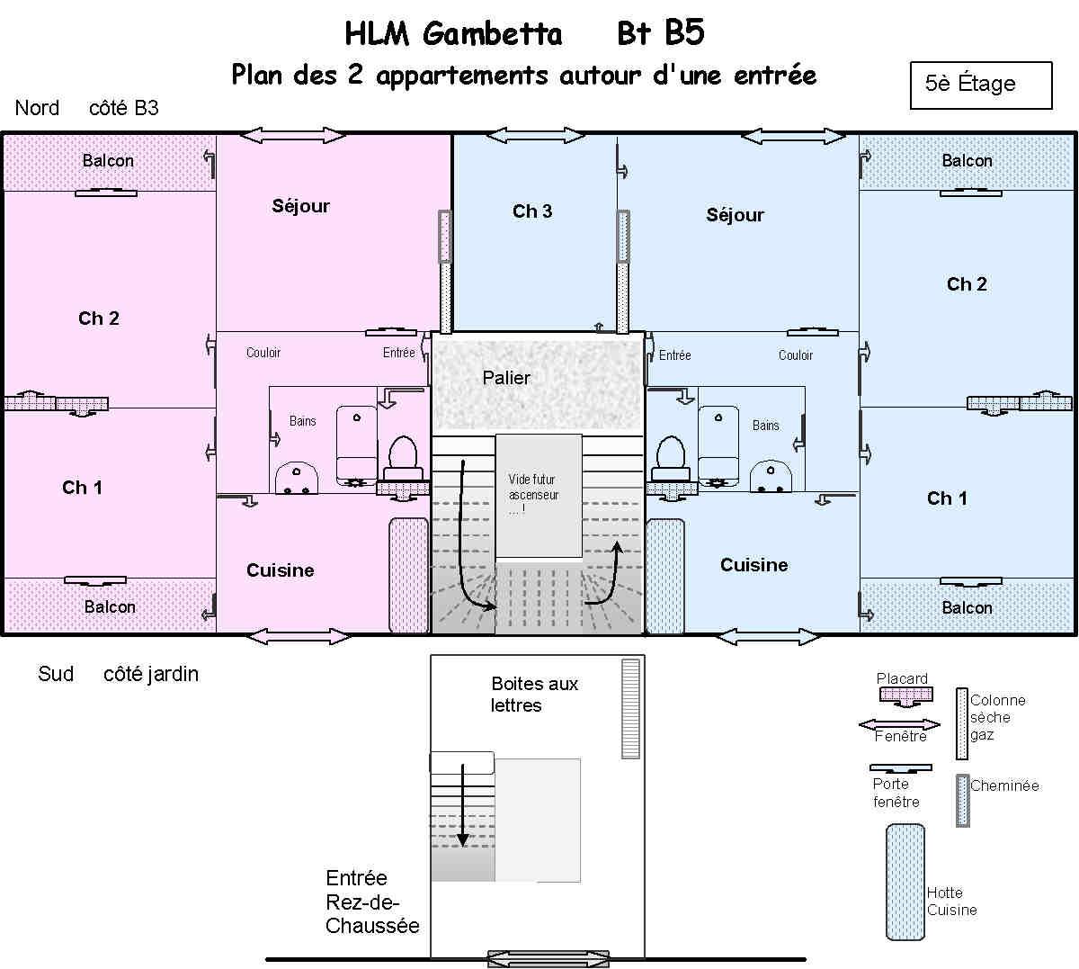 plan appartement hlm